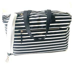 Kate Spade weekender bag dawn sailing stripe black